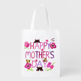 Happy Mother's Day Butterfly's Reusable Grocery Bag