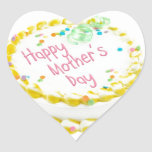 Happy Mother's day cake Heart Stickers