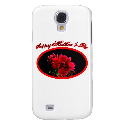 Happy Mother's Day Camellia bg Black The MUSEUM Za Samsung Galaxy S4 Covers