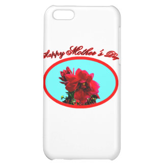 Happy Mother's Day Camellia bg Cyan The MUSEUM Zaz Cover For iPhone 5C