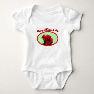 Happy Mother's Day Camellia bg Green The MUSEUM Za Baby Bodysuit