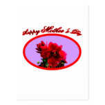 Happy Mother's Day Camellia bg Purple The MUSEUM Z Postcard