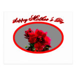Happy Mother's Day Camellia bg Silver The MUSEUM Z Postcard