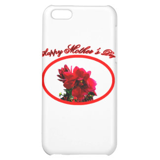 Happy Mother's Day Camellia bg White The MUSEUM Za Cover For iPhone 5C