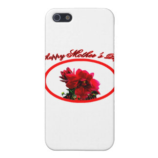 Happy Mother's Day Camellia bg White The MUSEUM Za iPhone 5 Case