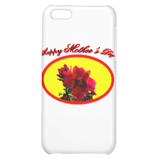 Happy Mother's Day Camellia bg Yellow The MUSEUM Z Case For iPhone 5C
