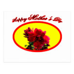 Happy Mother's Day Camellia bg Yellow The MUSEUM Z Postcard
