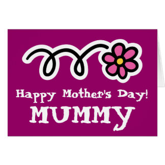 Happy Mother's Day card for Mummy Mum Mom