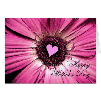 Happy Mother's Day Card Pink Daisy