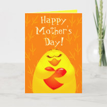 Happy Mother's Day, card with chick