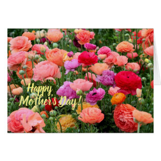 Happy Mother's Day Card with garden flowers