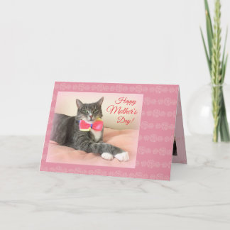 Happy Mother's Day card with happy cat
