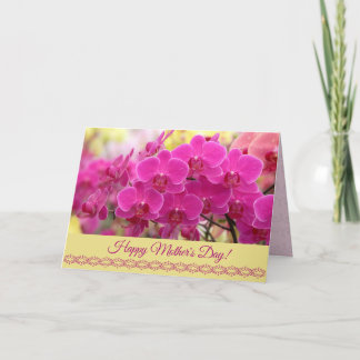 Happy Mother's Day Card with Orchids
