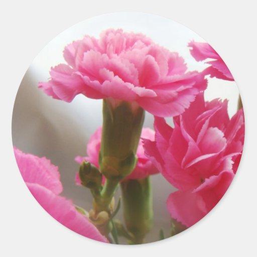 Happy Mother's Day - Carnation Round Sticker