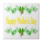 Happy Mothers Day Ceramic Tiles