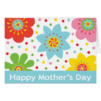 Happy Mothers Day - Cheer with colorful flowers Greeting Cards