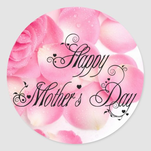 Happy Mothers Day Classic Round Sticker Zazzle