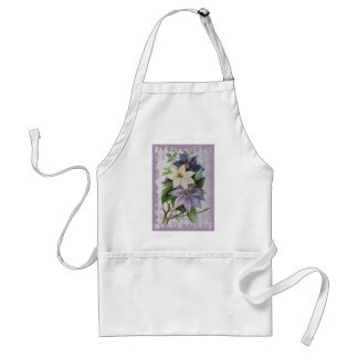 Happy Mother's Day Clematis Adult Apron