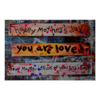 happy mothers day collage poster