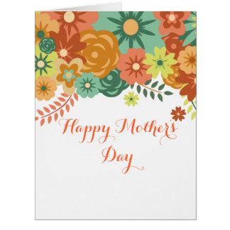 Happy Mother's Day Colorful Floral Design Card