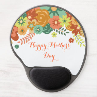 Happy Mother's Day Colorful Floral Design Gel Mouse Pad