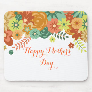 Happy Mother's Day Colorful Floral Design Mouse Pad