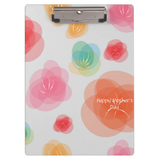 Happy Mother's Day Colorful Spring Flowers Clipboard