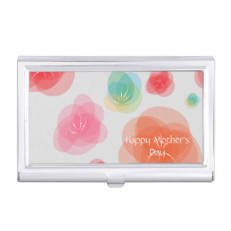 Happy Mother's Day Colorful Spring Flowers Case For Business Cards