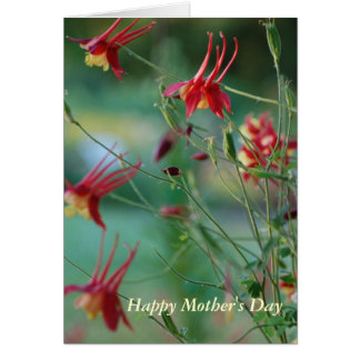 Happy Mother's Day Columbines Card
