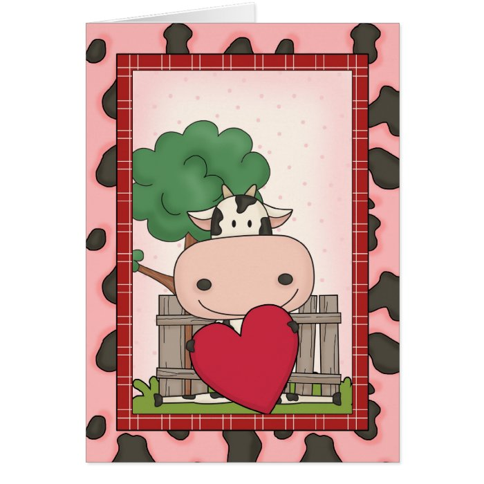 Happy Mother's Day - Cow & Heart Card