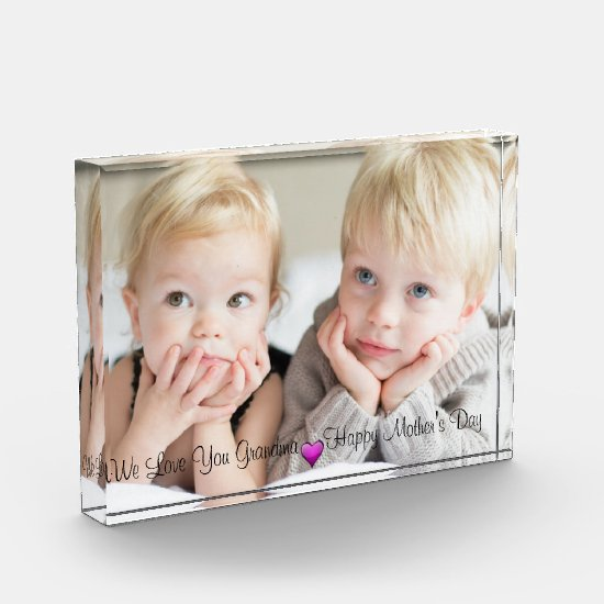 Happy Mother's Day, Custom Photo, Personalized Photo Block