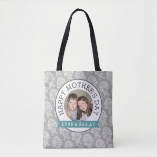 Happy Mother's Day - Custom Photo Template damask Tote Bag