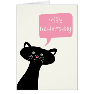 Happy Mother's Day - Cute Black Cat