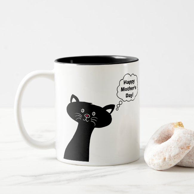 Happy Mother's Day Cute Cat Mug