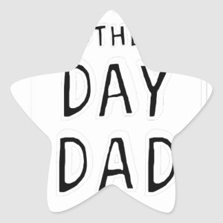 HAPPY MOTHER'S DAY DAD T-SHIRT TEE STAR STICKER
