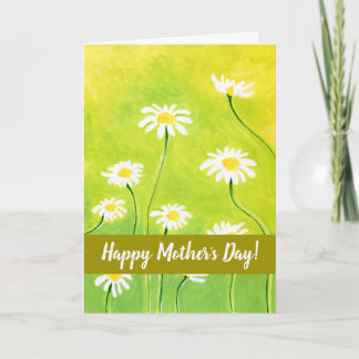 Happy Mother's Day Daisy Card Adjustable Text