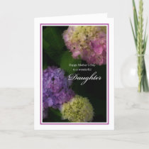 Happy Mother's Day Daughter, Painted Hydrangea Card