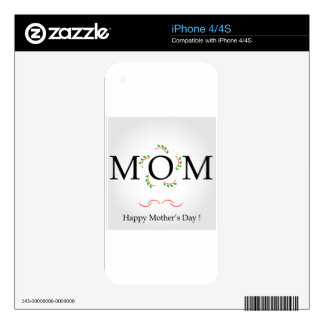 Happy Mothers day Decals For iPhone 4