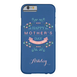 Happy Mother's Day - Elegant Chic Ribbon Floral Barely There iPhone 6 Case