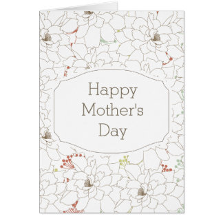 Happy Mother's Day Elegant Flowers Card