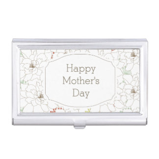 Happy Mother's Day Elegant Flowers Business Card Case