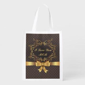 Happy Mother's Day Elegant Golden Design Market Totes
