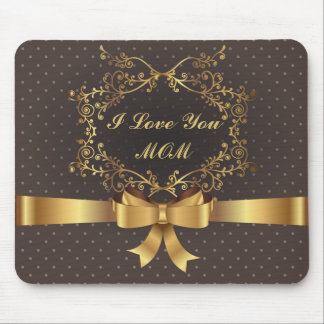 Happy Mother's Day Elegant Golden Design Mouse Pad