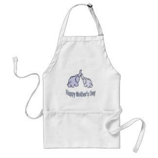 Happy Mothers Day Elephants Adult Apron