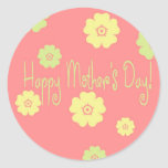 Happy Mother's Day Envelope Seal Classic Round Sticker