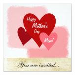 """Happy Mother's Day Event Invitation 5.25"""" Square Invitation Card"""