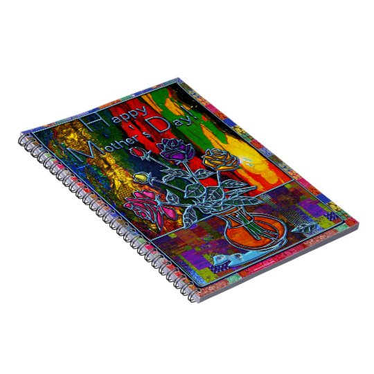 Happy Mothers Day Floral Abstract Notebook