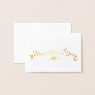 Happy Mother's Day Floral & Butterfly Foil Card
