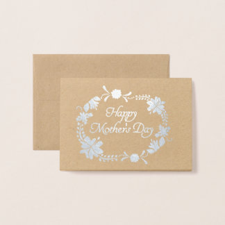 Happy Mother's Day Floral Circle Foil Card