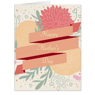 Happy Mother's Day Floral Design Card